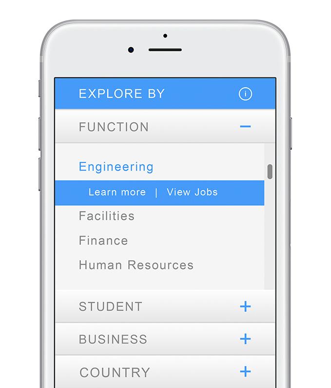 employer branding mobile web design