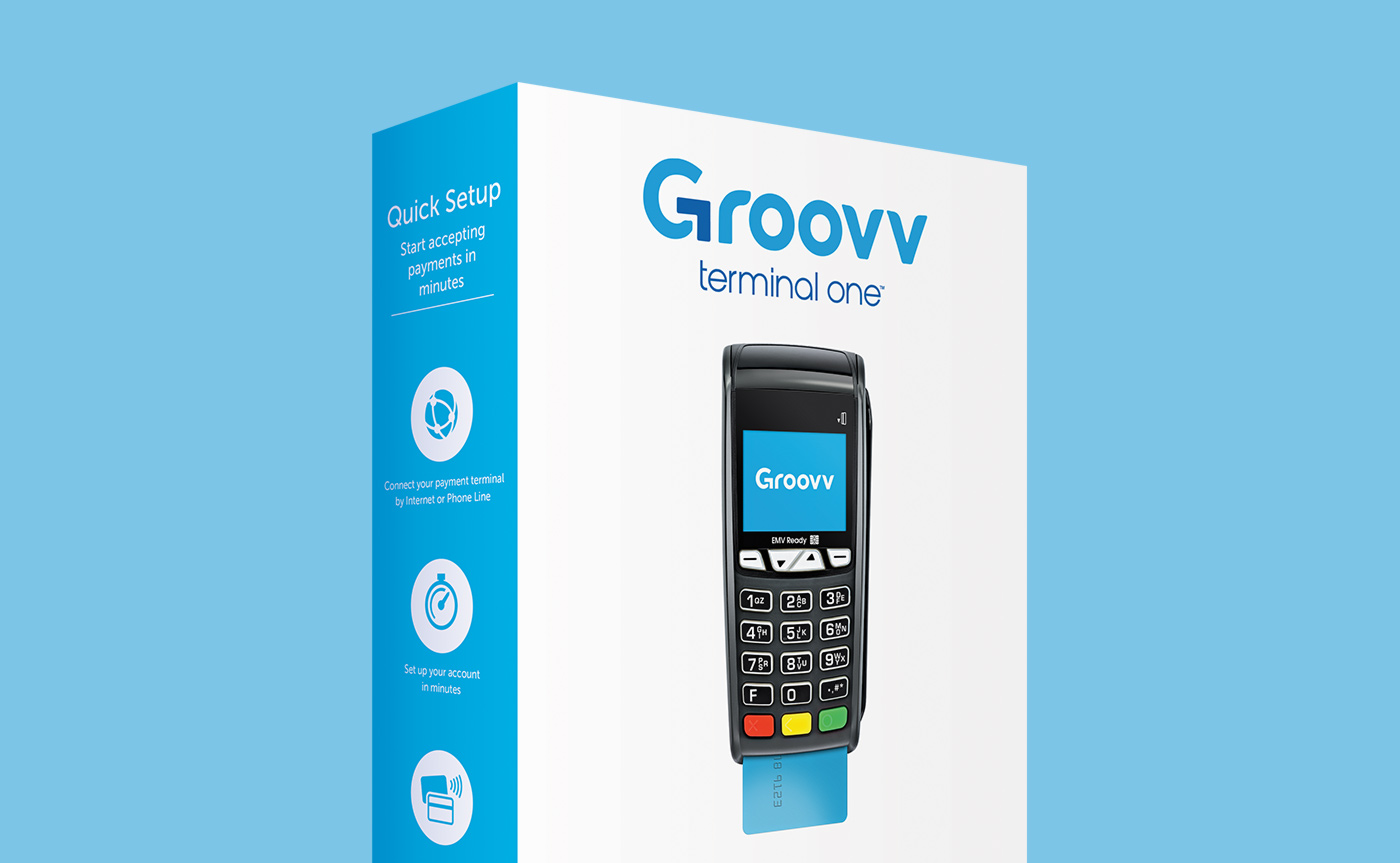 Groovv integrated merchant services package design