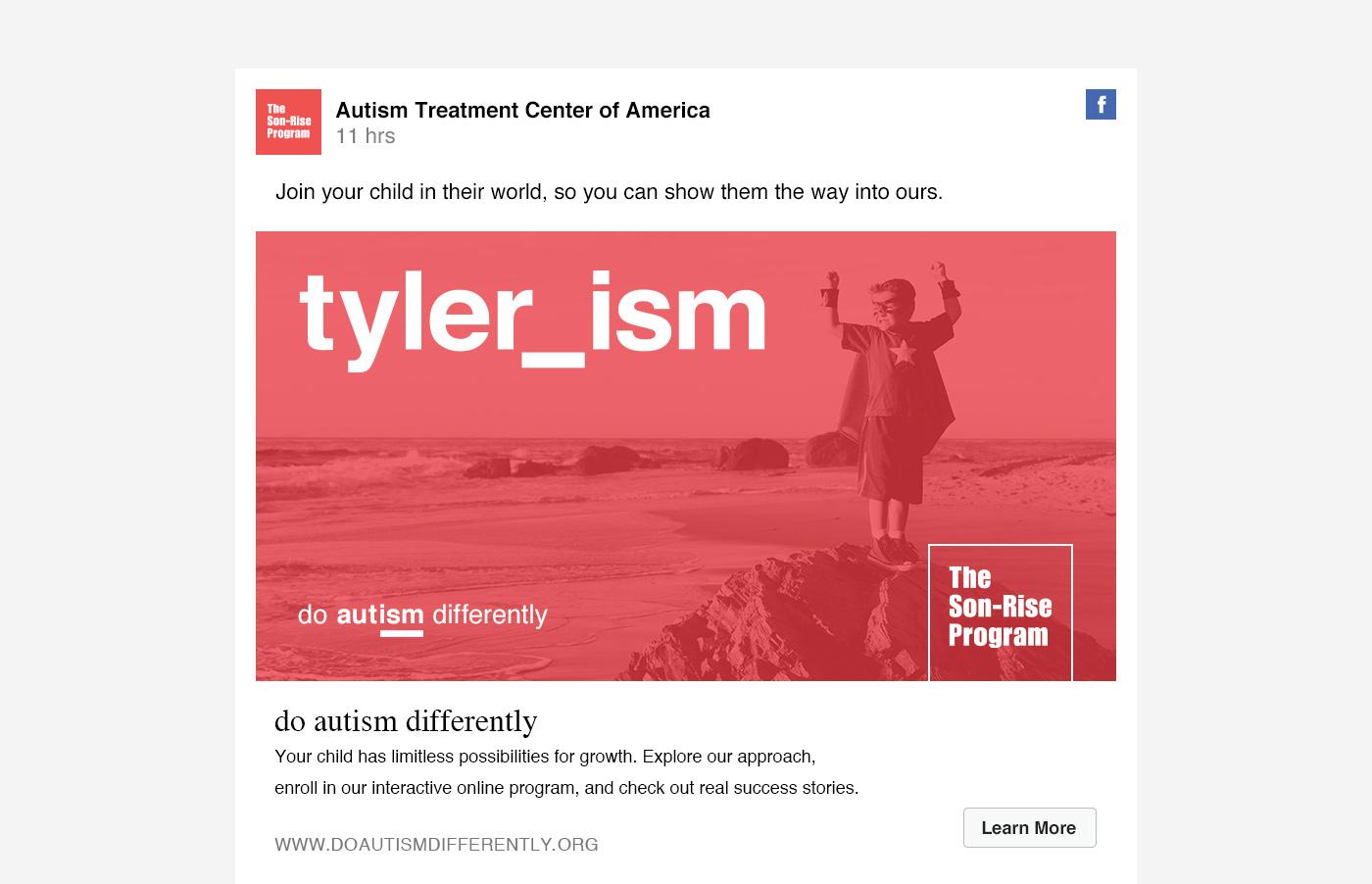 Facebook autism ad campaign