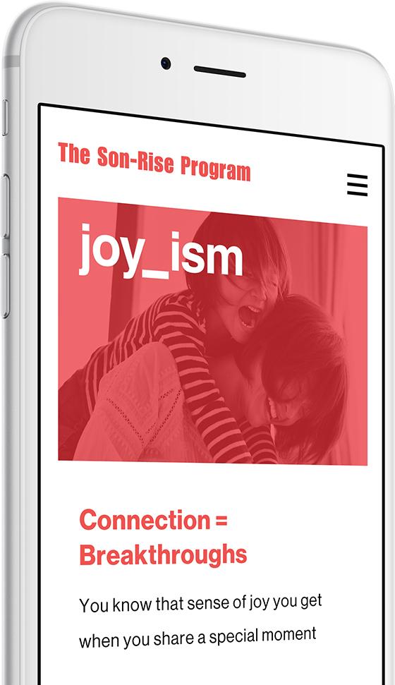 autism mobile responsive web design