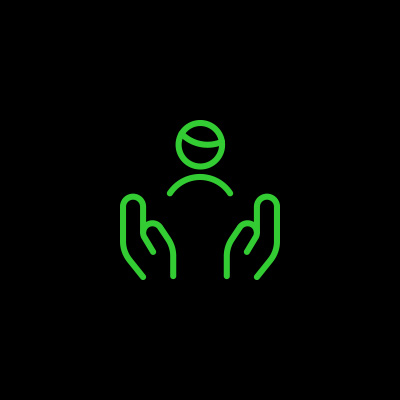 Customer in good hands icon